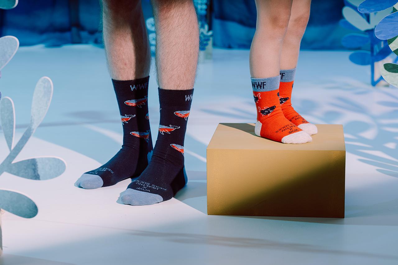 WWF x Healthy Seas Socks limited edition collectie: samen sta je sterker!