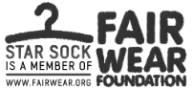 Star Sock proud member Fair Wear Foundation