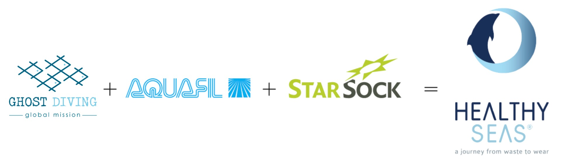 Founding partners Healthy Seas organisatie, Ghost Fishing, Star Sock and Aquafill