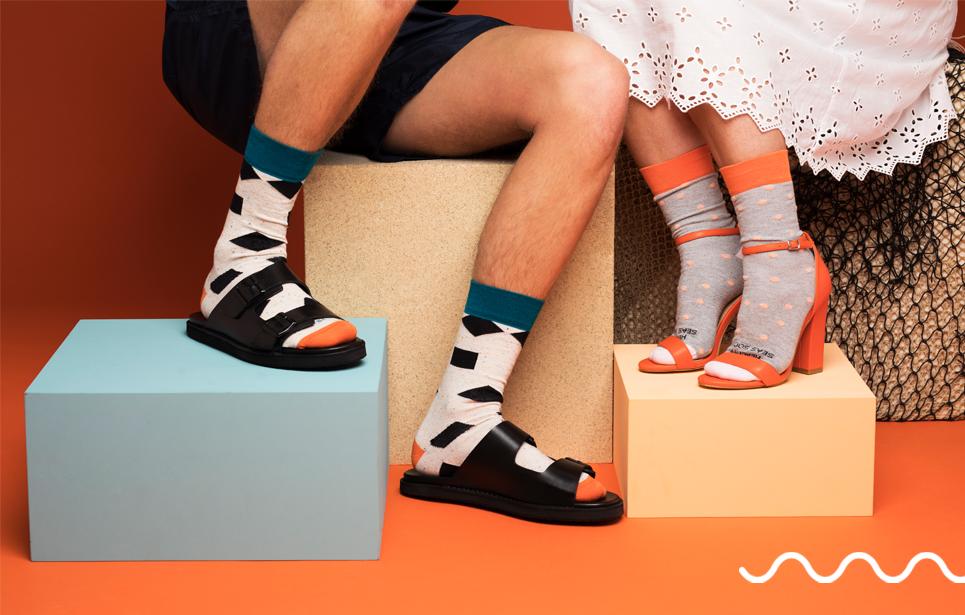 Beautiful Healthy Seas Socks line for your display