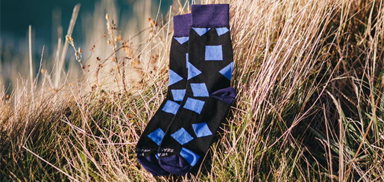 Healthy Seas Socks only uses sustainable materials