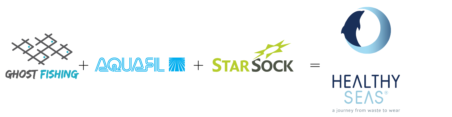 Founding partners Healthy Seas organisatie, Ghost Fishing, Star Sock and Aquafill